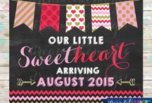 Printable Chalkboard Pregnancy Announcements