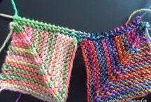 rainbow blocks knit