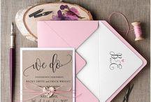 Svatební oznámení & přání & jmenovky