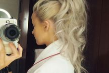 HAIR + PONYTAILS / ponytails, braided ponytails, ponytail hairstyles, styles for long hair, pony