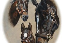 Horses in Art- Mares And Foals (or just foals)