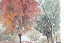 Watercolor,aquarel,pastel J.VLK - work / art work