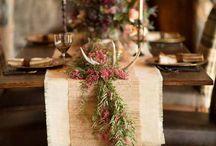 Arranjos de mesa para cerimónia
