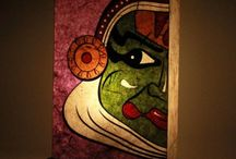 """""""Light Therapy"""" Lamps / Portraying  India in colors of lamps and lighting. Art is expressed in warli, madhubani and hand-painted forms. Depicting true Indian scenarios!!"""
