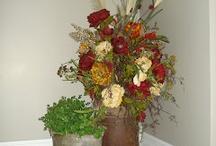 aranžování suchých květin / foto