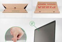 Pizzadobozból laptoptartó