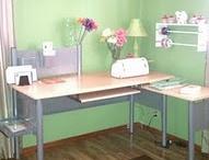 Scrapbooking Space/Desk Area/Playroom Ideas