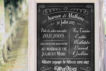 Tableaux pour Mariage / Création de tableaux entièrement personnalisables, avec pleins d'informations sur les mariés !  Des affiches originales qui pourra être accrochée lors du mariage puis ensuite dans votre chambre en souvenir de ce jour inoubliable !
