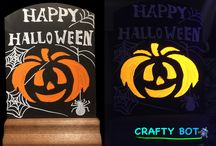CraftyBot Liquid Chalk Ideas For Halloween / CraftyBot Liquid Chalk Ideas For Halloween