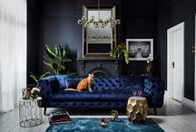 Moody Rooms / If you want to create the perfect backdrop for a dramatic space then explore a dark base - it brings out the best in colours.