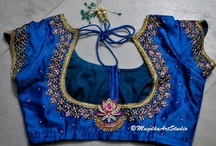 Saree blouse designs  / Blouse designs which are not too revealing