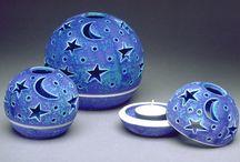 porselen  mumluklar