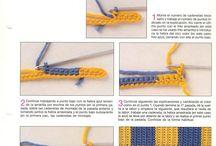 Esquemas y patrones de  ganchillo y punto.