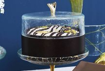 Cake presentation / Cake display objects like cake stands and platters for professional use designed and produced by Glass Studio