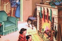 Christmas Past - By the Fireside / by Eva McGoey