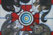 Kotki malowane ;)