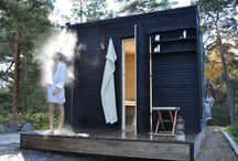 Træhytte/sauna