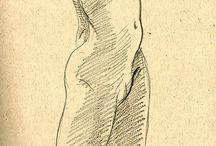 Zeichnung Body / Drawing of humans body
