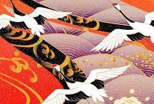 Japanese pattern / Fashion Japanese print and fabrics