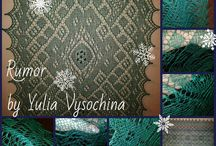 Шаль спицами по дизайнам Юлии Высочиной / Шали, связанные мной по дизайнам Высочиной Юлии