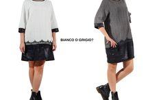Bianco o grigio? / Indossare un abito in inverno e restare alla moda è possibile. Basta scegliere il colore e approfittare dei saldi... ----->>>http://bit.ly/165WSdM #glamonclic #sale #vestitiinfelpa #ootd