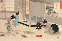 UKIYOE / This page is the order to send to the world the culture of tea ceremony.
