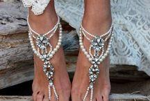 Пляжные свадебные босоножки