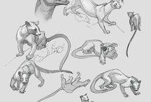 Эскизы животных