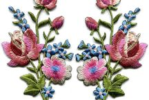 * appliques - embroidered *