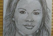 Szkice / Rysunki ołówkiem malowane