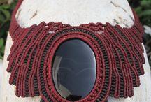 Macrame healing stones / handmade jewelry