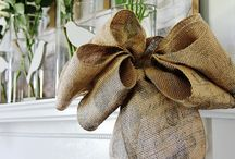 burlap bows / by burlap projects