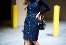 Denim Dress / How to wear a denim dress /ideas