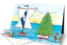 Chrismukkah Interfaith Greeting Cards / Greeting cards for the mixed blessings of celebrating both holidays Christmas and Hanukkah, Christmukkah / Chrismukkah