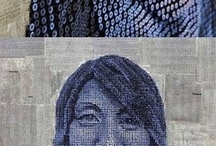 Awesome art with screws / Portraits using screws and paint.