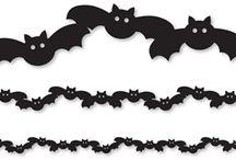Vystřihovánky Halloween / Halloween, čarodějnice, duchové, strašidla, strašidelné dýně dýně, pavouci, pavučiny, strašidelné domy a zámky, netopýři, kočky, sovy