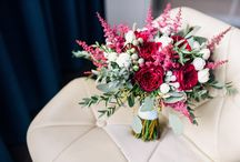 Autumn wedding with fruits in marsala and light blue