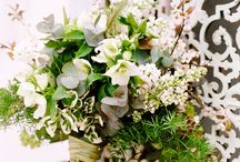 dreamy whites / white wedding bouquets, florals, inspiration