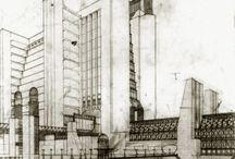 Clássicos / Desenhos de arquitetura antes da era digital.