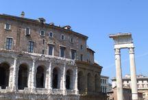 Teatro de Marcelo. Siglo I ac. Templo de Apolo. Siglo I ac. Roma. Italia.