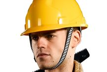 Safety Helmet (Head Protection) / Employees working in areas where there is a possible danger of head injury from impact, or from falling or flying objects, or from electrical shock and burns, shall be protected by protective helmets.