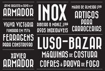 tipos e tipas / tipografia, typefaces
