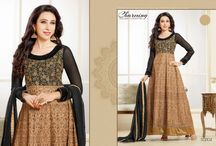 Karishma Kapur Anarkali Salwar Suits / Top:- 60 Gram Bottom:- Shantton Inner:- Shantton Dupatta:- Nazneen Size:- Up to 42 chest size Occison:- Party wear Work:- Pure embrodairy  Wash:- Dry Clean  Shipping Time:- Ready to ship Weight:- 1 kg