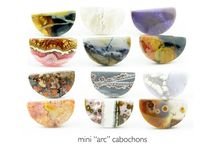FRESH CUT CABOCHONS / Lapidary work for new designs - cabochons hand cut and polished in my studio