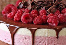choc raspberry mousse cake