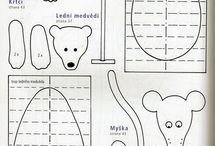 Zvieratá, autá a iné vystrihovačky z papiera / Šablóny