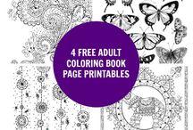 krāsojamas lapas