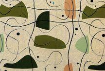 50's 60's textile design