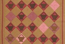 Antique quilts: Baskets / Старинные квилты: Корзинки