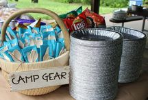 Viahn's camping party / Ideas for Viahn's camping themed birthday party